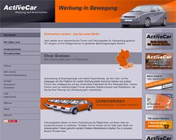 ActiveCar Website: Autowerbung Berlin