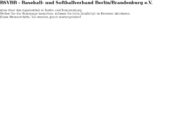 Baseball und Softball Verband Berlin Brandenburg e.V.