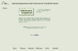 Interessengemeinschaft Historische Friedhöfe