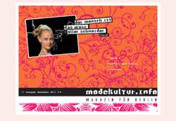 modekultur.info, Das Onlinemagazin für Berlin