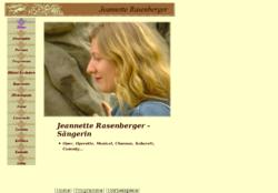 Homepage der Sängerin mit Showprogrammen